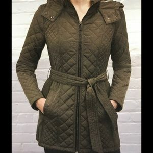 NEW Sebby Collection Quilted Teench Coat Jacket